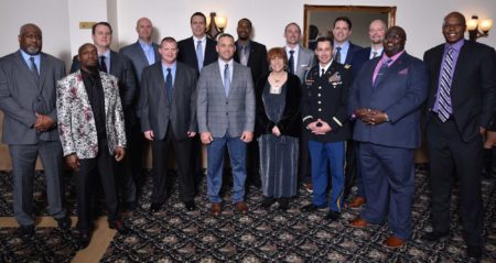 Indiana Basketball Hall of Fame 2019 Silver Anniversary Team Honorees smile and pose