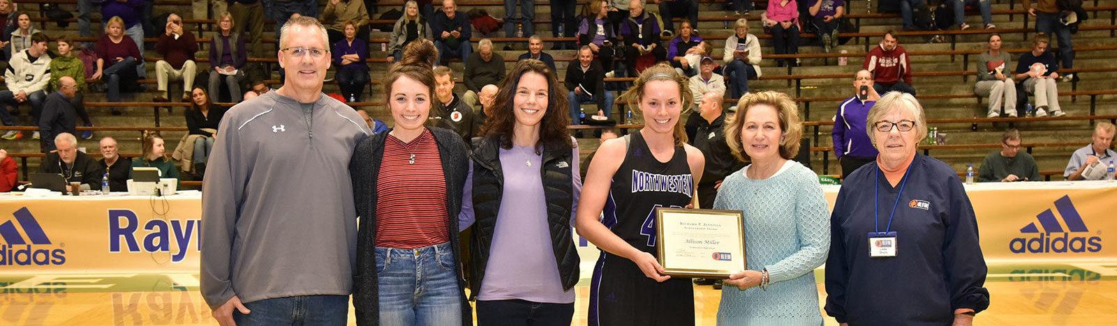 Allison Miller receives the Jennings Scholarship