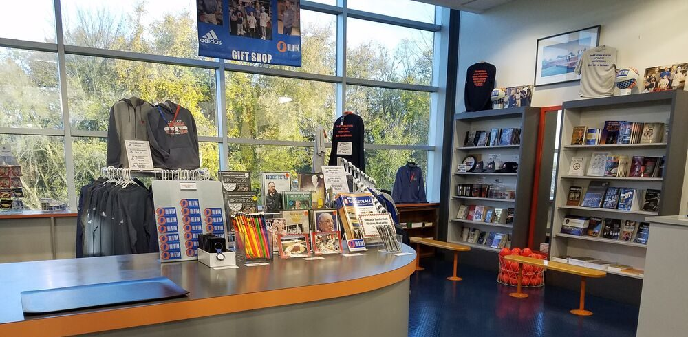 Memorabilia at gift shop of Indiana Basketball Hall of Fame gift shop